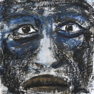 21_Bluesman_30x30cm_Acrylic-and-mixed-media-on-paper_2017